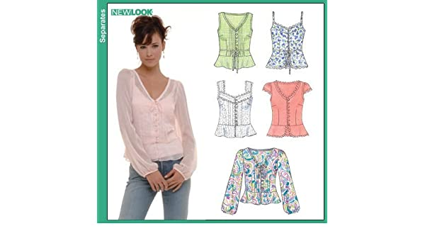 Size A X-Small - Small - Medium - Large - X-Large New Look Sewing Pattern 6838 Misses Separates
