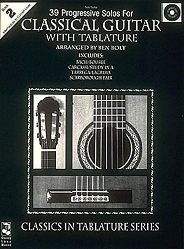 39 Progressive Solos for Classical Guitar Book 2 Guitare+CD (Thirty-Nine Progressive Solos for Classical Guitar)
