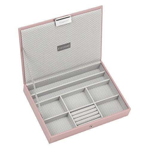 stackers-classic-size-soft-pink-lidded-stacker-jewellery-box-with-grey-spotted-lining