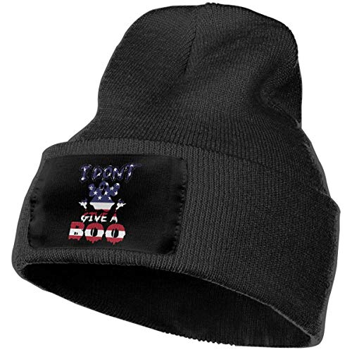 Fashion New warm Unisex Men & Women Boo Ghost American Flag Outdoor Warm Knit Beanies Hat Soft Winter Knit Caps (American School Outfit Kit Girl)