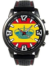 España Bandera de Yates Reloj para hombre con correa de silicona