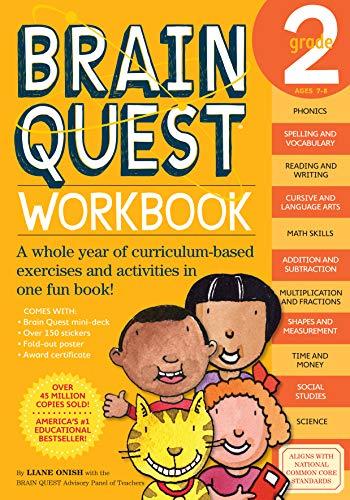Brain Quest Workbook: Grade 2 [With Stickers] [Idioma Inglés]