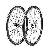 VCYCLE Nopea 700C 38mm Kohlefaser Rennrad Laufradsatz Drahtreifen 23mm Breite Shimano oder Sram 8/9/10/11 Speed
