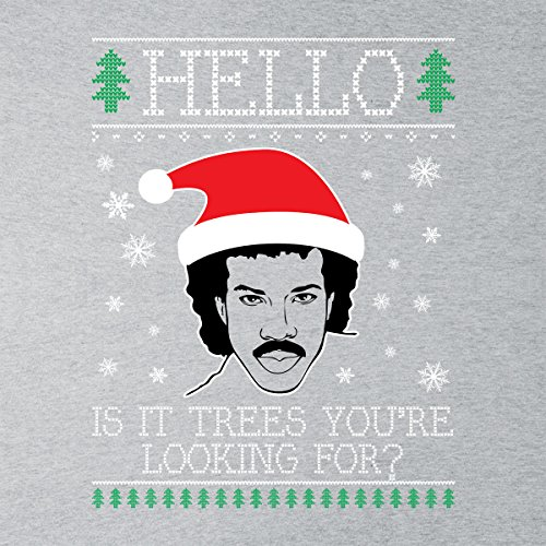 Hello Lionel Richie Christmas Knit Women's Hooded Sweatshirt Heather Grey