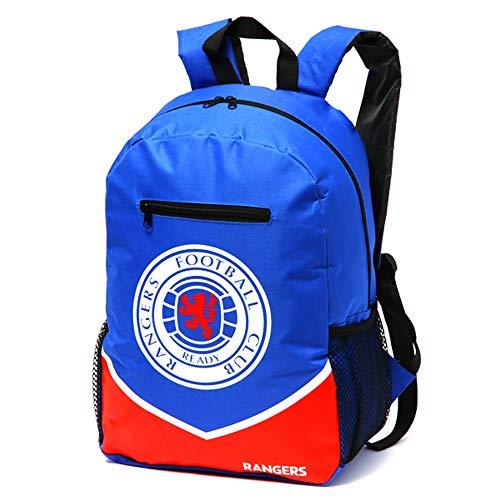Rangers FC Offizieller Swoop Rucksack (Einheitsgröße) (Blau/Weiß/Rot)