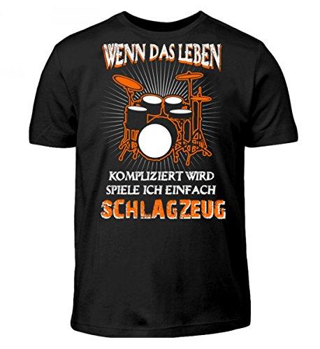 Hochwertiges Kinder T-Shirt - Schlagzeug - Leben kompliziert