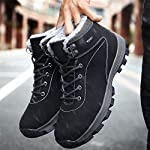 UBFEN Mens Womens Snow Boots Winter Warm Plush Booties Outdoor Sports Walking Hiking High Top Shoes 18