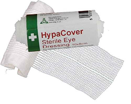 Safety First Aid d7889pk6Allsport Medical hypacover Wundkompresse steril Eye Verband, 10x 8cm, Set 6Stück