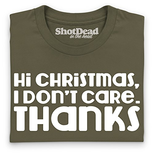 Hi Christmas T-Shirt, Herren Olivgrn