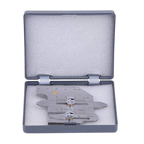 Medidor de soldadura HJC-40 Calibre de Filete de Soldadura Calibrador de Acero...