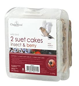 Chapelwood Wild Bird Suet Cake Insect & Berry (2 Pack)