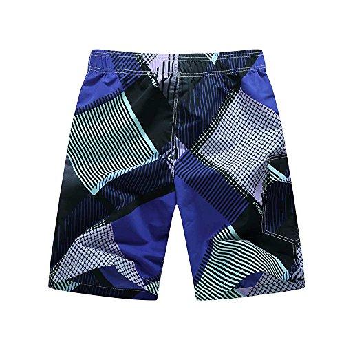 Tuopuda Herren Badeshorts Mischfarben Schnelltrocknend Beachshorts Strand Shorts Sommer Shorts Lila