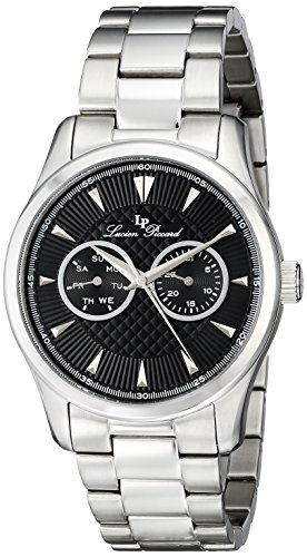 Lucien Piccard Stellar 12761-11 42mm Silver Steel Bracelet & Case Mineral Men's Watch