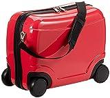 HAUPTSTADTKOFFER Hartschalenkoffer Sitzkoffer Handgepäck Kindergepäck, 23 Liter, Rot