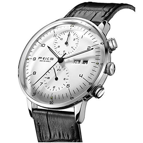 Uhren Mechanische Automatik FEICE Uhr Watch mit Gewölbter Mineralglas Multifunktions Klassisch...