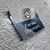 Metzler-Trade® Türklingel aus Edelstahl und Acrylglas. Klingelplatte mit beleuchteter 3D-Gravur und LED-Taster.
