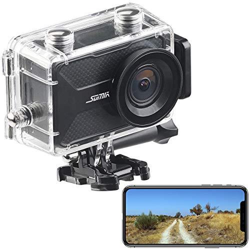 Somikon Actioncam mit GPS: 4K-Action-Cam mit GPS und WLAN, Unterwasser-Gehäuse mit IPX8 (Kompaktkamera)