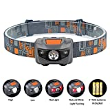 Linkax LED Headlamp Headlight Super Bright LED Head Torch 4 Brightness Modes Helmet Light for Running Camping Hiking Fishing 3 AAA batteries Included