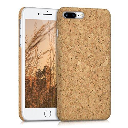 kwmobile Cover in sughero per Apple iPhone 7 Plus / 8 Plus - Cover per cellulare Case protezione rigida marrone chiaro