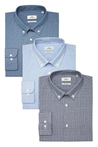 next Lot de trois chemises bleues standards à col boutonné Standard Homme Bleu