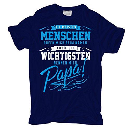Männer und Herren T-Shirt Vatertag Die Wichtigsten Nennen Mich Papa