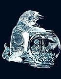 Set tableau - Le chat pêcheur - Scraper Argent - 20 x 25 cm - Le p'tit créateur
