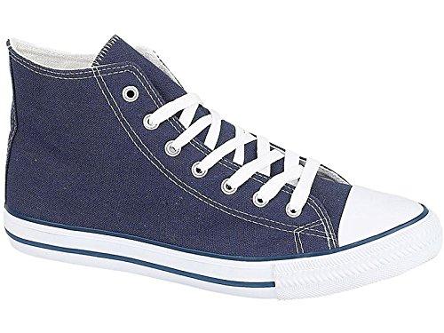 Herren Turnschuhe Baltimore/Academy aus Canvas, Zehenschutzkappe All Star Trainer Casual Schuhe, Größe 6