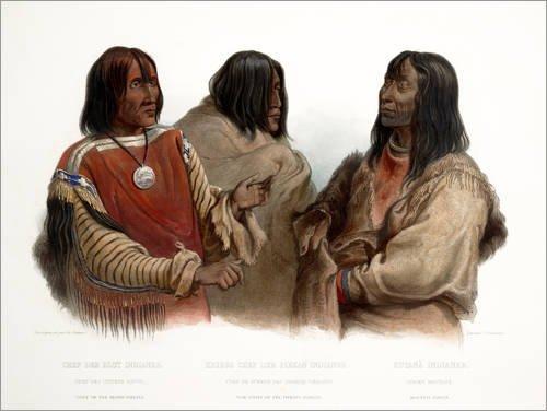 120 x 90 cm: Blood Chiefs & Kootenay von Karl Bodmer (Traditionelle Kleidung Von Amerika)