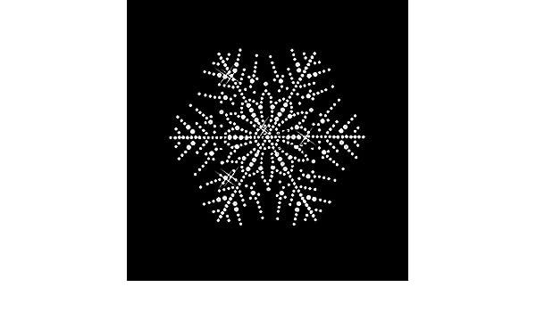 STRASS Schnee-Blume Hotfix Bügelbild Applikation Schneeflocke
