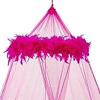 Mosquito Nets 4 U - Hot Pink letto a baldacchino con piume NUOVO