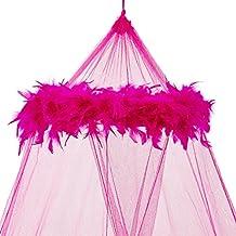 Mosquito Nets 4 U - Mosquitera con plumas color rosa