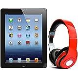 Pack iPad 3 16Go Wifi Noir avec casque Bluetooth Rouge