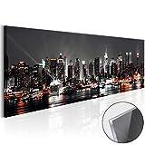murando - Acrylglasbild New York 120x40 cm - Bilder Wandbild - modern - Decoration City Stadt d-B-0055-k-a
