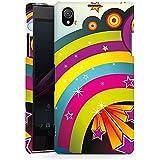 Sony Xperia Z1 Hülle Premium Case Schutz Cover Regenbogen Bunt Sterne