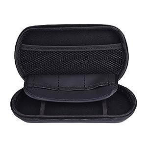Zedlabz hard protective eva carry case with built in game storage for Sony PS Vita 2000 slim, PS Vita 1000 & PSP - Black
