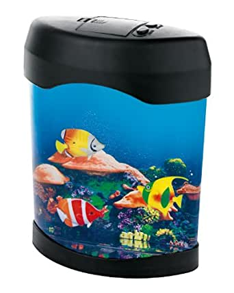 tv unser original deko aquarium mit led farbwechsel 05542 beleuchtung. Black Bedroom Furniture Sets. Home Design Ideas