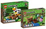 Lego Minecraft 21140–Gallinero + Lego Minecraft 21138–Plantación de melones