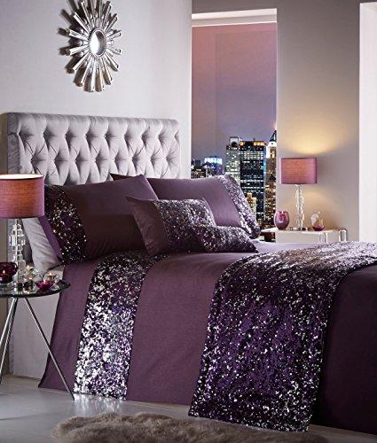 Dazzle Bettbezug, 100% Polyester, violett - Amethyst Purple, Doppelbett (Portfolio Abdecken)