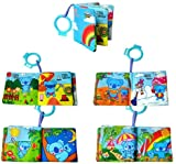 1pc Intelligence Development Cloth Cognition Book Learning & Activity Toys for Kids Baby (Natural)
