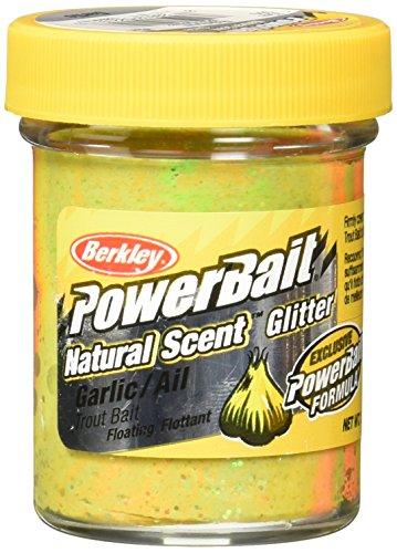 PowerBait Natural Glitter Forellenköder, Unisex-Erwachsene, 1203187, Regenbogenfarben, Jar -