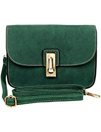 Mei&ge PU Leather Stylish Sling Bag/Purse For Women & Girls Color - Green (1628)