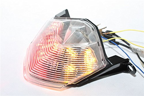 Htt Moto Effacer LED Feu arrière lumière de frein avec Intégré les signaux indicateurs pour Kawasaki 07-12 Z750/07-08 Z1000/08-10 Zx-10r Zx1000/09-12 Zx-6r Zx600