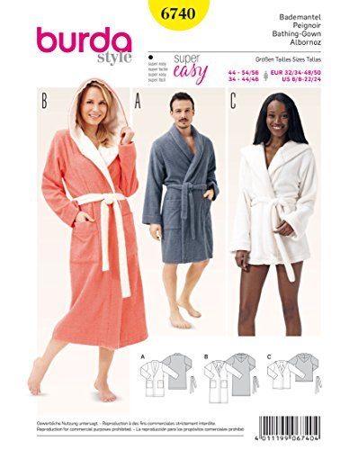 Butterick Pattern 6300 Woman,Misses//Womens Robe,Belt and Negligee,Sizes XXL-6X