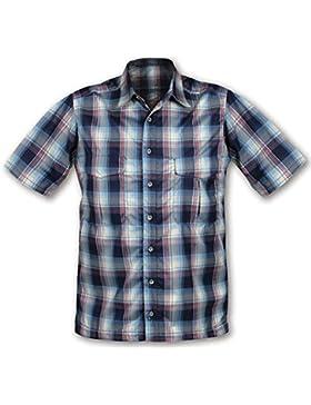 Páramo–Kea Camisa ligera de manga corta para hombre Oxford, hombre, color Azul - azul, tamaño Small - 38