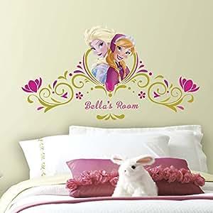 """RoomMates Disney La reine des neiges """"de Lit"""" Printemps Sticker mural avec personnalisation"""