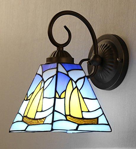 Broncos La Chambre de style méditerranéen Lampes restaurants Salon Couloir pour la navigation avec commutateurs Continental Tiffany Applique