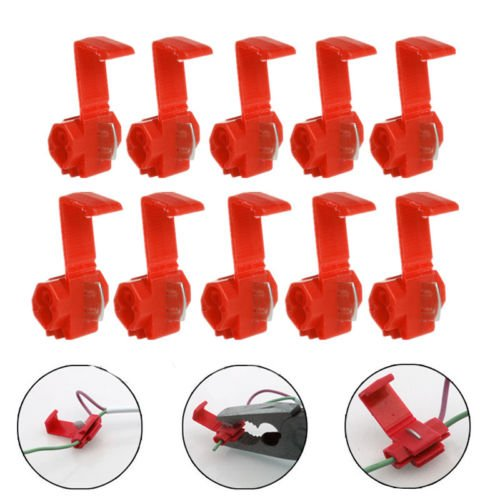 50x Red Elektrisches Kabel Stecker Schnell Schnell Splice Lock Draht Terminals Crimp (18 Gauge Wire Connectors)