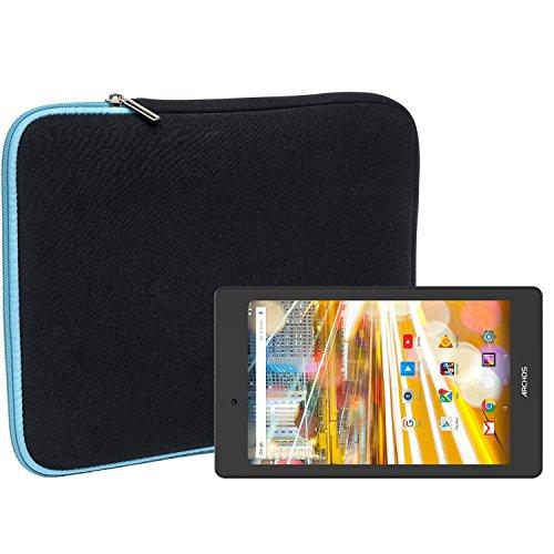 Slabo Tablet Tasche Schutzhülle für Archos 70 Oxygen Hülle Etui Case Phablet aus Neopren – TÜRKIS / SCHWARZ