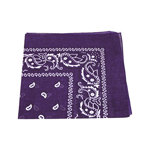 mens-womens-bandana-head-or-neck-scarves-paisley-pattern-100-cotton-dark-purple