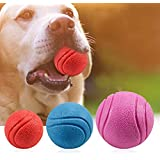 The DDS Store Solid Rubber Dog Balls,Dog's Solid Rubber Bouncy Ball Bite Resistant and Indestructible Dog Training Ball,Pet Solid Rubber Bouncy Ball (Color May Vary) (Pack of 2)